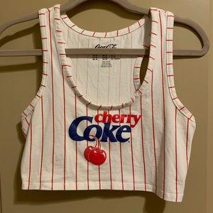 Original Cherry Coke Crop Top